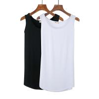 厚莫代尔中长款吊带背心裙打底衫修身包臀裙女夏装纯白色内搭衬裙