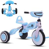 新款儿童三轮车可折叠便携式儿童自行车2-6岁宝宝脚踏车EVA防滑发泡轮单车手推车带灯光音乐早教玩具车