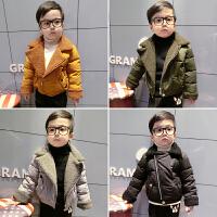 宝宝羽绒冬装新款男童棉衣儿童棉袄外套