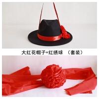 古装摄影道具舞台男士四周大沿帽子礼帽结婚庆影楼新郎官中式影视 M(56-58cm)