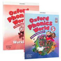 英文原版 Oxford Phonics World 5 自然拼读发音系列2册练习册+CD 正版牛津树少儿英语阅读启蒙4