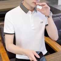 POLO短袖 2021夏季新款男款韩版潮流衬衫领POLO衫短袖 709男装