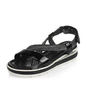 Teenmix/天美意夏季专柜同款漆皮女凉鞋6J503BL6