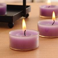 浪漫紫色小蜡烛茶蜡生日氛围香薰蜡烛芯红色求婚蜡烛灯表白烛台灯