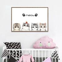 卧室卡通猫咪砖石画动物十字绣儿童小幅