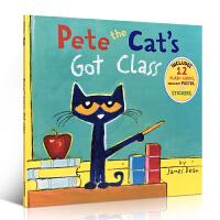 【全店300减100】英文原版进口童书 Pete the Cat's Got Class 皮特猫绘本图画故事书 廖彩杏书