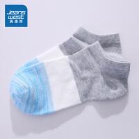 [618提前购专享价:4.9元]真维斯女装 2019夏装新款 撞色船袜