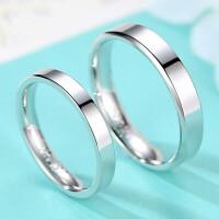 20180828164332218刻字S925纯银饰首饰品男女情侣戒指光面创意简单纯银对戒指环