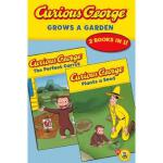 【预订】Curious George Grows a Garden: A Double Reader