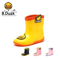 B.Duck小黄鸭儿童雨鞋雨靴幼儿卡通小孩防滑水鞋小童学生男女童雨鞋