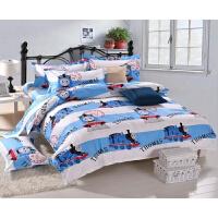 儿童卡通棉床上用品三四件套翻斗车床单床笠上下床可定做