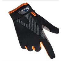 手套男秋季全指手套男士骑车户外运动骑行手套透气弹性手套