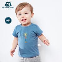 迷你巴拉巴拉婴童T恤2018年夏装新款男女宝宝婴儿短袖卡通打底衫
