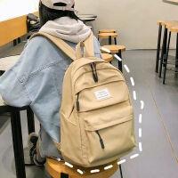 大容量书包女高中学生帆布双肩包韩版校园风ins旅行背包潮初中生