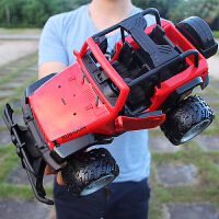超大号儿童可开门越野车充电遥控汽车耐摔漂移大脚赛车男孩玩具车