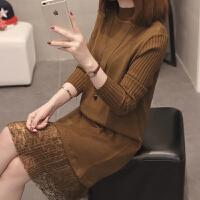 加厚毛衣女士2018新款韩版毛衣裙过膝中长款打底衫秋冬百搭时尚潮