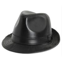 帽子男士礼帽中年春秋冬季中老年人帽子男爷爷爵士帽休闲大檐