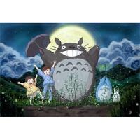 宫崎骏电影龙猫木质拼图1000片日本动漫儿童玩具新年礼物 藕色 龙猫星夜2000片