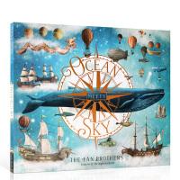 英文原版Ocean Meets Sky 海天相接 2019年凯特格林威大奖绘本 范氏兄弟Terry Fan & Eri