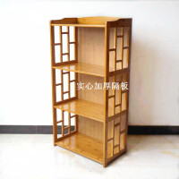 楠竹置物架竹书架储物柜实木多层厨房架落地搁物架简易书柜收纳架