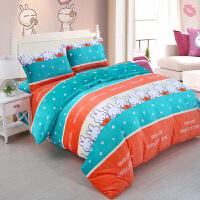 冬季床上用品法莱绒四件套法兰绒珊瑚绒1.5m米床儿童法莱绒四件套