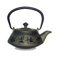 铁壶铸铁茶壶功夫茶铸铁壶无涂层 铁茶壶日本南部生铁壶茶具烧水煮茶老铁壶茶壶茶具 铁茶壶 兵战壶(单壶)