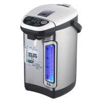 家用电热水瓶保温双层防烫烧水壶304不锈钢电热水壶 红色