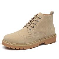 冬季新款男士马丁靴高帮英伦复古风男靴雪地靴加绒保暖工装鞋潮流