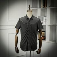 重点是面料 苎麻面料夏装尾单短袖衬衫商务休闲透气舒适半袖衬衣
