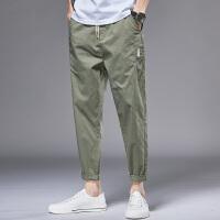 Lee Cooper新款牛仔裤男直筒系绳韩版潮流青休闲运动个性男裤