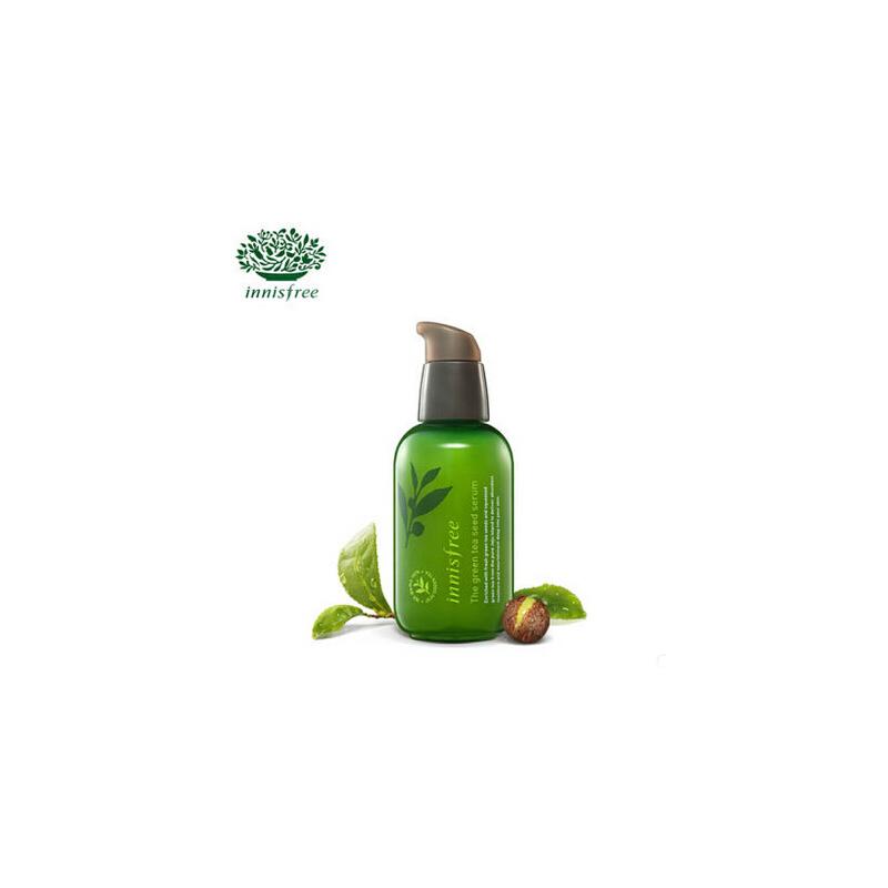 悦诗风吟 Innisfree 小绿瓶精华 绿茶籽精萃水分肌底菁露 80ml 补水保湿调节肌肤水油平衡
