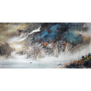 著名国画家、中国艺术研究院研究员 施云翔 《红叶染碧山》