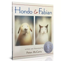 英文原版 Hondo and Fabian 红豆与菲比 凯迪克银奖 幼儿童英语启蒙阅读教材绘本