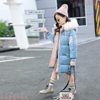 女童冬装棉衣2018新款金丝绒棉袄儿童洋气韩版中长款加厚羽绒
