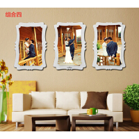 韩式水晶相框挂墙组合连体照片墙创意婚纱照制作结婚照片大客厅 组合4