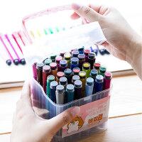 众叶水彩笔彩色笔绘画彩笔套装儿童画笔可水洗幼儿园初学者手绘笔小学生美术24色36色48色印章安全无毒水彩笔