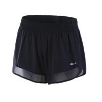 运动短裤女夏跑步宽松学生大码防走光速干短裤薄款假两件健身短裤