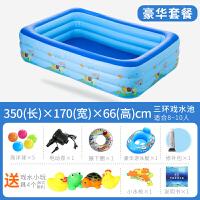 婴儿游泳池家用 婴儿游泳池充气加大家庭游泳池 婴幼儿童宝宝浴盆海洋球池