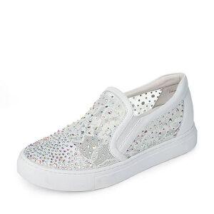 Tata/他她2017年春季蕾丝网布牛皮女休闲鞋2AG78AM7小白鞋运动鞋女小白鞋女女乐福鞋