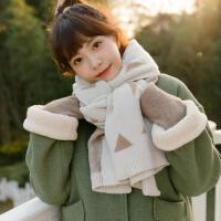 ins韩版冬天保暖小清新软妹百搭围脖学生几何双面针织围巾少女心