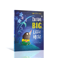 【全店300减100】Tom Percival:Dream Big, Little Mole 英文原版进口图书小鼹鼠的大