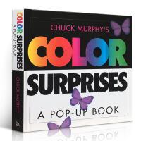 英文原版 Color Surprises Pop-up Book 色彩主题立体书儿童阅读玩具书 英语入门启蒙认知绘本