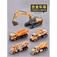 合金工程车套装大号吊车挖掘机挖土机压路机铲车儿童玩具