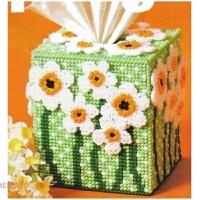 立体绣纸巾盒新款立体十字绣套件毛线绣春意盎然DIY手工粗线 7CT未剪裁