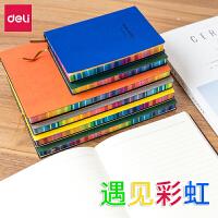 彩色软皮面笔记本文具A5商务办公记事本简约可爱小清新韩国创意文具学生随身便携小号日记本子