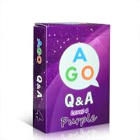 英文原版 ago Q & A Purple ( Level 4 ) 魔法英语扑克牌 边玩边学 亲子英语游戏式互动学习桌