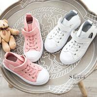 舒适透气 男女儿童高帮休闲运动鞋板鞋皮鞋Q0/0/59