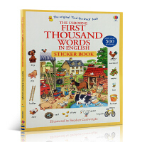 英文原版绘本 附500张贴纸 First Thousand Words in English Sticker book