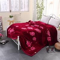 婚庆拉舍尔毛毯结婚双层云毯大红双人加厚被子冬季 裸睡绒毯盖毯 200x230cm(10斤)