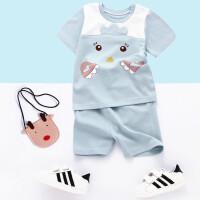 新品夏季薄款卡通龙猫新生婴幼儿宝宝衣服装纯棉短袖男女童套装潮